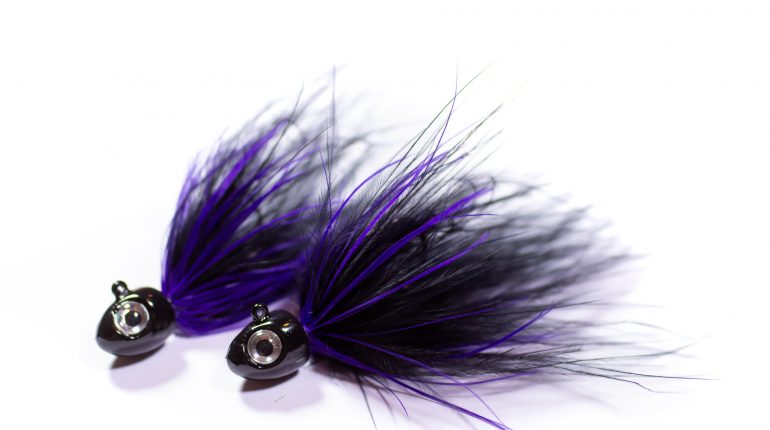 Black & Purple marabou Jig
