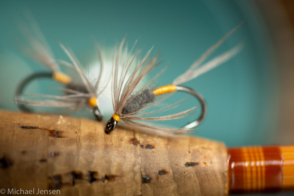 Two Blue Dun Wet Flies in a Soft Hackle version - tied by Michael Jensen