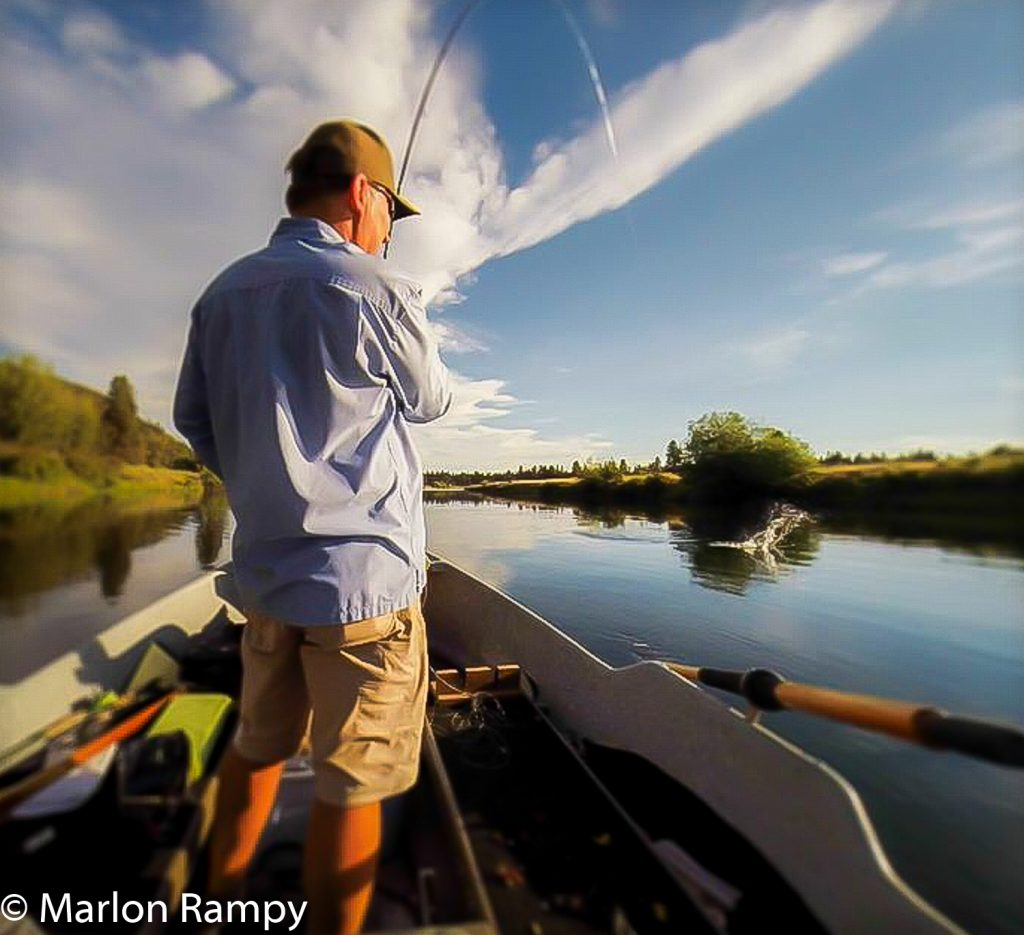Marlon Rampy on Williamson River